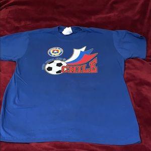 Women's blue Chile Soccer shirt